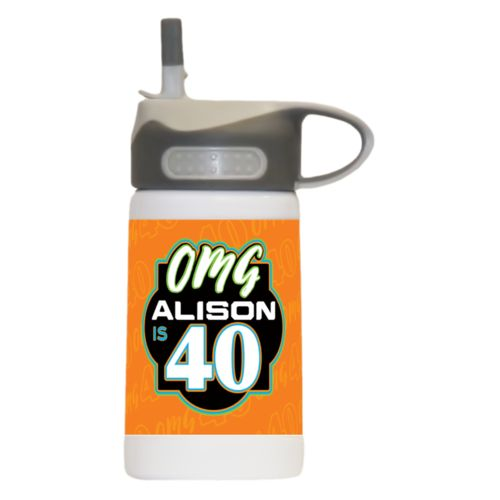 "Personalized with ""OMG - Is 40"" and a name"